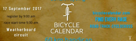 September 17, 2017 – BicycleCalendar.com Handicap – Weatherboard, 60 km