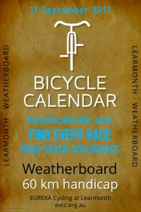 2017 EVCC Bicycle Calendar Hcp - poster