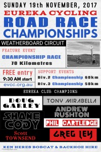 EVCC 2017 road race Championships - poster