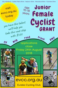EVCC Junior Female Cyclist - poster