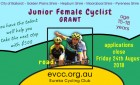 Junior Female Cyclist Support Program - applications CLOSED