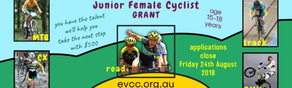 Junior Female Cyclist Support Program – applications CLOSED
