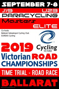 2019 Cycling Vic Road Champs - poster