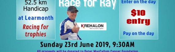 June 23, 2019 – Race for Ray – Windmill handicap, 52.5 Km