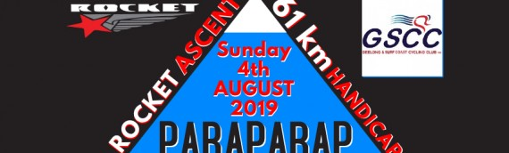August 5, 2019 – Rocket Ascent – Paraparap, Interclub handicap, 61 Km