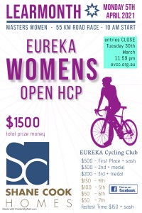 Eureka Womens Open 2021 - Made with PosterMyWall